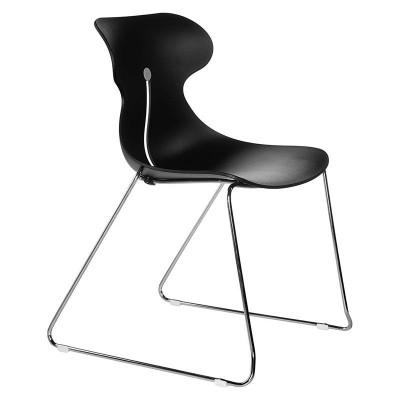 Chaise coque Athéna noire