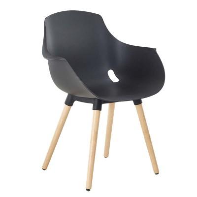 Chaise Gaia piétement en bois
