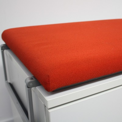Steelcase Moby Blanc / Corail