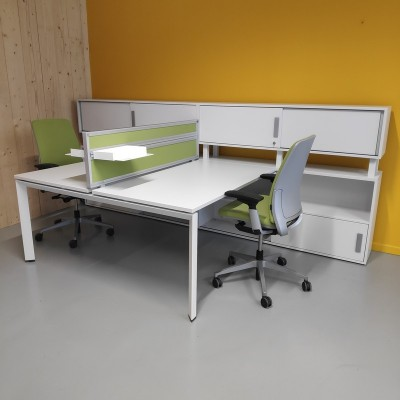 Steelcase Bench FrameOne Blanc
