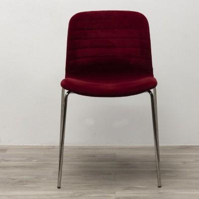 Chaise de réunion en tissu Rouge