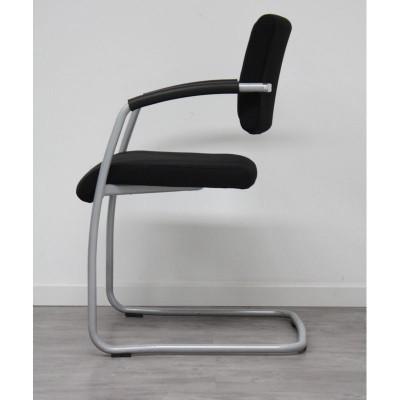 Chaise luge tissu Noir / Gris + Acc