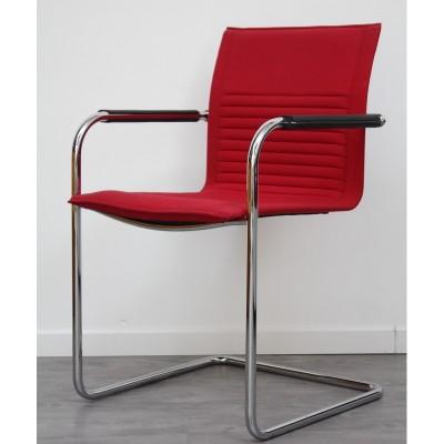 Chaise visiteur luge Rouge