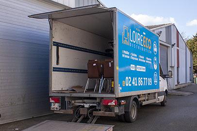 reconditionnement d'un fauteuil Loire Eco Distribution